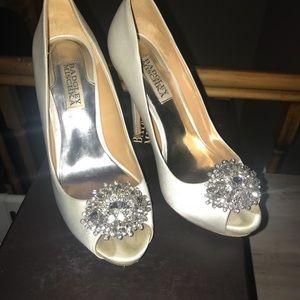 White heels for bride